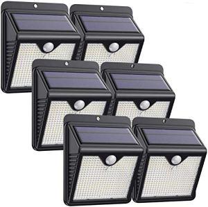 Lampe Solaire Extérieur, [ 6 Pack 150 LED – 1000 lumens] iPosible Lumière Solaire Etanche éclairage Solaire avec Détecteur de Mouvement Lampe de Sécurité sans Fil lampe mural pour Jardin