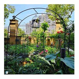 LILL Arche de jardin en métal résistant pour jardin, terrasse, extérieur, arche décorative de mariage
