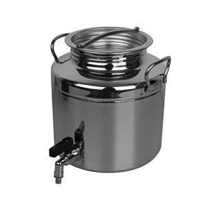 Linxor France ® Fût alimentaire en inox avec robinet pour huile d'olive ou autre – 5L – Norme CE