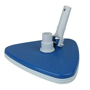 Linxor France ® Tête de balai aspirant triangulaire bleu pour manche standard ou télescopique – Norme CE