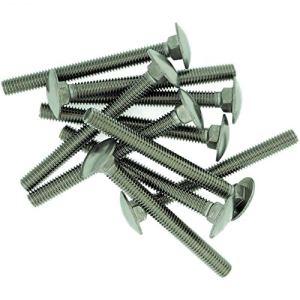 Lot de 10 boulons carrés M10 (10 mm x 65 mm) en acier inoxydable (A2)