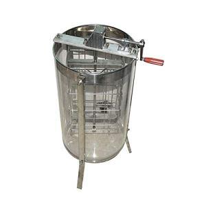LXH-SH Honigextraktor Outils apicoles 2 Cadre Manuel Acrylique Transparent Honey Shaker, Miel Batteur Bucket, séparateur de Miel, Miel Shaker Extraction du Miel