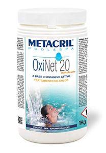 Metacril Oxi Net 20 Multi-fonctions – Oxygène actif en pastilles de 20 g – 1 kg. Idéal pour piscine ou jacuzzi (Teuco, Jacuzzi, Dimhora, Intex, Bestway, etc.)