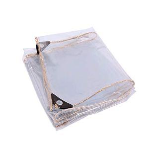 N / E 3 x 3m Bâche Étanche Transparente, Matériau PVC Pliable D'extérieur, Indéchirable et Coupe-Vent Bâche, avec renforcer Les Oeillets, pour Les Plantes Serre Pet Hutch Toit