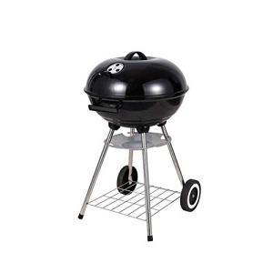 NAFE Gril de Barbecue Rond Portable, adapté à Plus de 4 à 6 Personnes, Barbecue au Charbon de Bois en Plein air, utilisé pour Le Camping, fête en Plein air, Cadeaux-Black