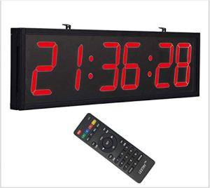 NLRHH LED électronique à Distance Grand thermomètre Suspendu numérique écran Horloge aéroport/Station/extérieur Pleine Taille -Red LED 70.5×19.3cm (27.55x759in) Peng