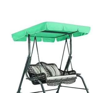 Patio Swing Canopy Cover 3 Seat Chair Top Cover étanche(Green)