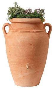 PEGANE Kit Amphore 600L Coloris Terracotta avec bac à Plantes intégré, H 142 x D 92 cm
