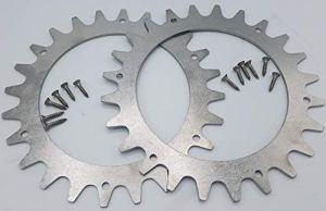 Pics en acier inoxydable pour améliorer la traction voir vidéo – Modèles Worx Landroid S et M – Taille des roues : 205 mm – Kit de fixation en acier inoxydable – Fabriqué en Allemagne