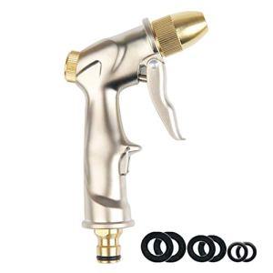 Pistolet d'arrosage pour tuyau d'arrosage – En alliage de zinc résistant – Pistolet d'arrosage à haute pression – Tuyau multifonction pour l'arrosage des plantes de jardin,e lavage de voiture