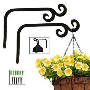 Plant Hooks Hanging Baskets with 2 Durable Curved Hooks Tips for Planters Lanterns Bird…