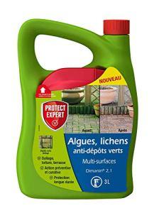 PROTECT EXPERT MOUSPAL3N Algues Lichens Anti Dépôts Vert | Multi Surfaces | 3L | Désinfectant | Prêt-à-l'emploi, Triple Action