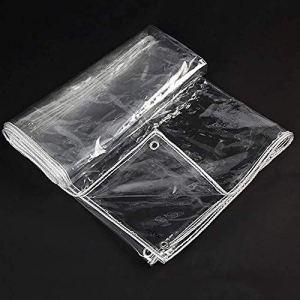 qwert Bâche en PVC Transparent Doux pour Balcon Tissu Imperméable Toile en Plastique Pare-Brise Chaud Et Imperméable (Couleur: Transparent, Taille: 40x230cm)(Size:280x380cm,Color:Clair)