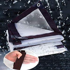 qwert Bâche Imperméable Transparente en Tissu De Pluie épaissie Balcon Coupe-Vent Feuille De Plastique Chaude Et Hydratante (Couleur: Transparent, Taille: 300x300cm)(Size:500x500cm,Color:Clair)