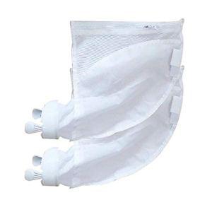 Rainai Lot de 2 sacs de nettoyage pour piscine avec fermeture éclair Blanc 30 x 32 cm Pour modèle Polaris 280 480