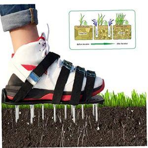 Renoble chaussures aérateur de gazon Sandales 8-Strap clouté Garden Aerating sol clouté Sandales outil agréable pour la maison