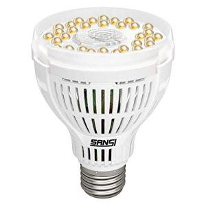 SANSI 15W LED Ampoule de Croissance, Lumière du Jour Blanche à Spectre Complet, Lumières LED de Croissance pour Les Plantes D'intérieur, Jardinage, E27