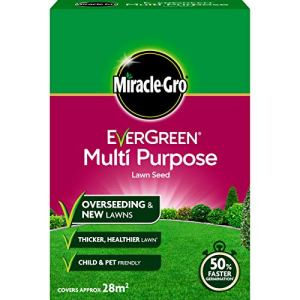 Scotts Miracle-Gro Semence de Gazon Evergreen Multifonction – 1,6 kg Graines de Gazon universelles 840 g