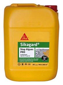 Sikagard Stop Algues PRO, Traitement algicide et fongicide concentré, 20L, Incolore