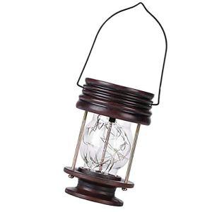 SOLUSTRE Lampes Solaires Suspendues à Effet de Bougie D'extérieur pour Jardin Patio Parasol de Terrasse Tente de Jardin (Noir)