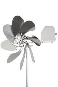 Steel4you éolienne deko speedy28 plus en inox-diamètre 28 cm-rotor) à roulements à billes avec girouette multi (360° orientable)