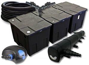 SunSun Kit de Filtration de Bassin pour 90000l avec 72W Stérilisateur et 100W éco Pompe 25m Tuyau
