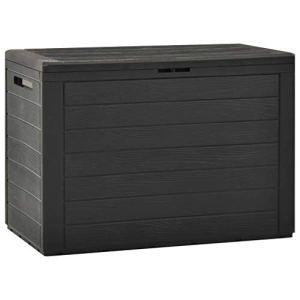 vidaXL Boîte de Rangement de Jardin Coffre de Stockage Boîte de Stockage Coffre de Rangement Extérieur Patio Terrasse Anthracite78x44x55 cm