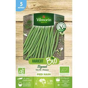 Vilmorin – Graines de Haricot Nain vert SIGNAL BIO – 5 metres