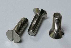 Vis à tête fraisée avec fente DIN 963 – Matériau : acier inoxydable V2A/Aisi 304 (10 pièces) (M6 x 30 mm).