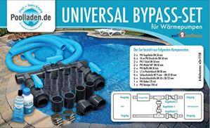 well2wellness® Pool Bypass Set Universal pour Pompes à Chaleur, Chauffage des piscines et Chauffage Solaire