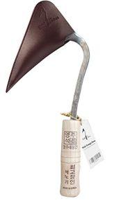 Youngju Homi Binette chasse-goupille de qualité supérieure avec housse de sécurité pour faciliter le jardinage, le désherbage et l'agriculture, fabriquée par un maître forgeron coréen