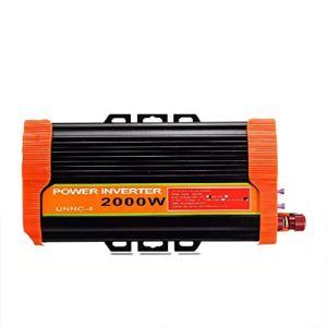 ZHANGJA 4000w Onduleur Solaire 12v à 220v 2000w Voiture Onduleur Chargeur Convertisseur Adaptateur Modifié Transformateur à Onde SinusoïDale
