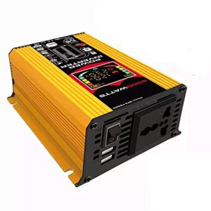 ZHANGJA Nouveau Onduleur à Onde SinusoïDale Pure De Puissance De Voiture DC 12v à AC 220 / 110v 6000w Convertisseur à Onde SinusoïDale De Voiture 2 USB avec Affichage LED
