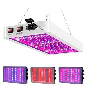 2000W Lampe Led Horticole Croissance Floraison 312 LEDs, Lampe pour Plante Spectre Complet 3 Modes d'Eclairage, LED Grow Light avec variateur VEG/BLOOM Canal (312LEDs)