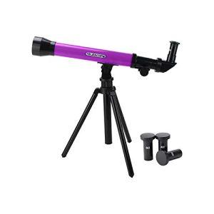20X 40X 60X Longue Vue – Télescope à Angle – Le télescope astronomique de l'éducation Scientifique pour Enfants Jouets Haute Puissance (Violet)