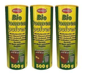 3 x 500 g biotonnenpulver mülleimer-pulver madenvernichter, contre maden poubelle