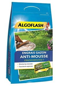 Algoflash Engrais Gazon Anti-Mousse Favorise la Repousse 3,6Kg (Lot de 4)