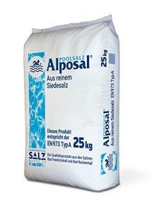 Alposal Sel de piscine composé de pur sel ignigène (convient pour appareil de chloration) en sac de 25 kg