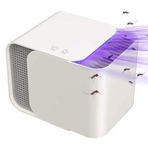 Bakaji Moustiquaire électrique avec ventilateur d'aspiration lumière UV LED et attractif anti-moustiques, design moderne, anti-moustiques, insectes, 12 W, dimensions 15 x 20 cm