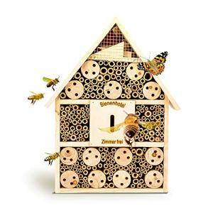 bambuswald© Hôtel à Insectes Bois – Abri Insectes 28.5 x 9 x 39 cm | Maisonnette Matériaux Naturels – Abeille Coccinelle Papillon et Autres Insects Volants