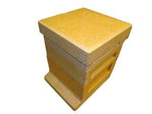 Beekeeping Supplies UK Poly Hive avec 2 supers – Une polyruche avec Plancher, Une boîte de couvée, Un Boudin de Reine, 2 supers, Une Couronne et Un Toit.
