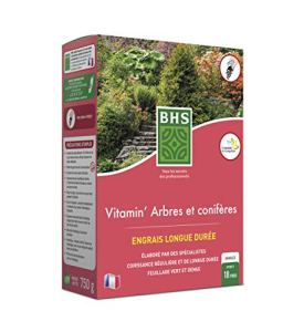 BHS EVACO750 Engrais Vitamin' Arbres & Coniferes | 750 g | Soit 18 Pieds | Équilibre A Dominante Azotée pour Favoriser Une Croissance, Fabriqué en France