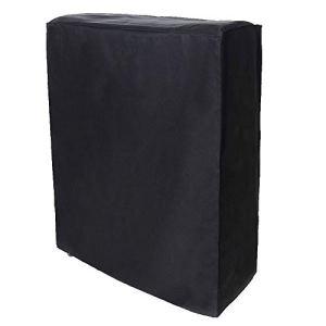 Caredy Housse de Meuble, Housse de lit Pliante portative Noire Housse de Protection Anti-poussière pour Meubles(85 * 33 * 107cm)