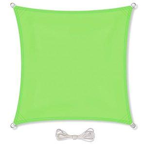 CelinaSun Voile d'ombrage Pare-Soleil Jardin Balcon Polyester PES hydrophobe Rectangle 2,5 x 5 m Vert