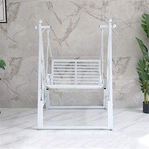 Chaises Suspendues Nordic Iron Art Swing Rocking Chair À La Maison Swing Extérieure Chaise Suspendue Balcon Balcon Chaise À Bascule pour la Maison et le Jardin ( Couleur : White , Size : 94x89x196cm )