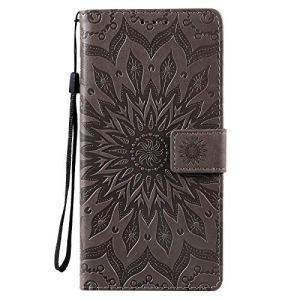 Coque pour OnePlus Nord N10 5G Protection Housse en Cuir PU Pochette,[Emplacements Cartes],[Fonction Support],[Languette Magnétique] pour OnePlus Nord N10 – DEKT033388 Gris