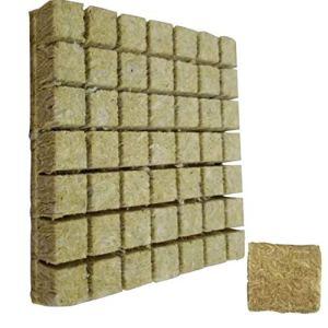 croissance bouchon de milieu de croissance de laine de roche de bouchon de démarrage de propagation végétale hydroponique laine de roche cube minces 50PCS
