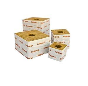 Cultilene Rockwool Cubes Lot de 50 blocs de culture hydroponique Petit trou 7,6 cm 10,2 cm 15,2 cm