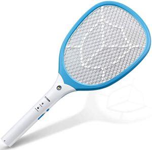 CYOUH Raquette à Moustique Électrique, Raquette Anti-moustiques pour Les Insectes à Triple Couche de Maillage pour Une Utilisation en Extérieur en Intérieur (USB Rechargeable)