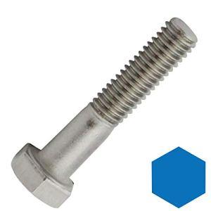 D2D | VPE : 4 pièces – Vis à tête hexagonale avec tige – M8 x 150 – DIN 931 / ISO 4014 – En acier inoxydable A2 V2A – Vis de machine